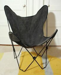 Vintage Hardoy Modern Folding Butterfly Chair. Iron Frame Fabric Cover 60andrsquos Mcm