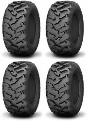 Four 4 Kenda Mastodon AT ATV Tires Set 2 Front 25x8-12 & 2 Rear 25x10-12 K3201