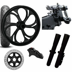 Rc 26 Recoil Black Wheel Tire Neck Rake Front End Package Harley Single Side
