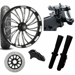 Rc 26 Axxis Eclipse Wheel Tire Neck Rake Front End Package Harley Single Side