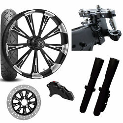 Rc 26 Raider Eclipse Wheel Tire Neck Rake Front End Package Harley Single Side