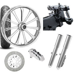 Rc 26 Exile Chrome Wheel Tire Neck Rake Front End Package Harley Single Side