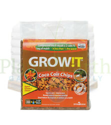 GROW!T Organic Coco Coir Planting Chips Block (2 cubic foot bags) by the Pallet