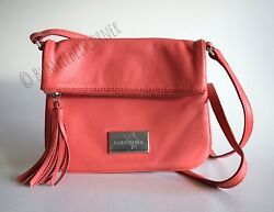 BIMBA Y LOLA Flap Crossbody GRAINED ARIZONA LEATHER Pink TASSEL Shoulder Bag NWT $119.90