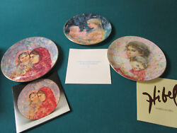 Edna Hibel Collector Plates Pick One Marilyn, Kristina, Lucia And Child