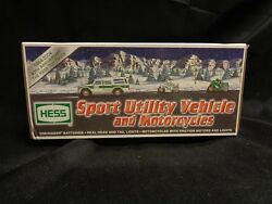 2004 Hess Toy Truck Sport Utility Vehicle And Motorcycles Nib