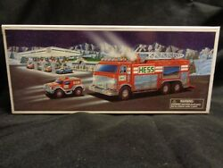 2005 Hess Toy Truck Emergency Truck With Rescue Vehicle Nib