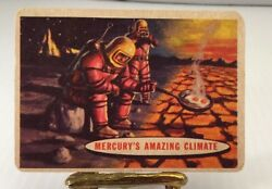 1957 Topps Space Cards #77 Mercury's Amazing Climate