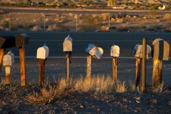 Roadside Rural Mailboxes Barstow California Photo Art Print Poster 18x12 Inch