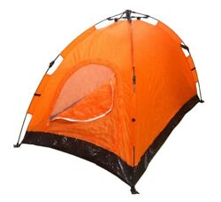 Instant Automatic Pop Up Backpacking Camping Hiking 2 Man Tent Orange Sealed $29.99