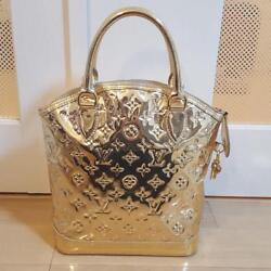 Louis Vuitton Miroir Rock It Womenand039s Hand Bag Gold Limited Rare From Japan F/s