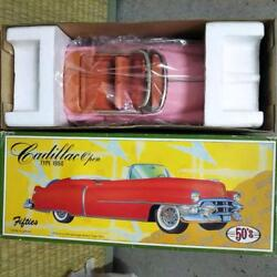 50's Made In Japan Tin Toy Vehicle Cadillac Pink Rare New With Box F/s