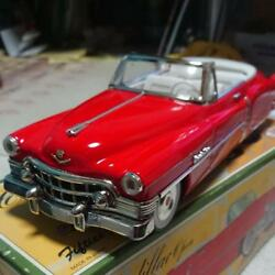 Tin Diecast Toy Cadillac Mini Car Red Collectible 50's New With Box Made Japan