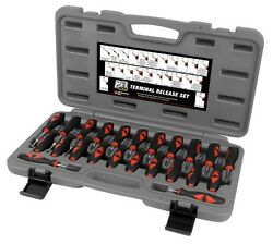 23pc Automotive Wire Terminal Connector Release Removal Tool Crimp Pin Extractor
