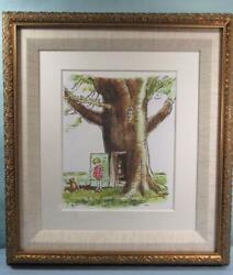 Classic Winnie The Pooh Art Print Rare 200 Limited 1/200 Serial Number Giclee