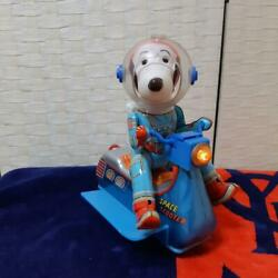 Masudaya Tin Toy Snoopy Space Scooter Peanuts 60and039s Vintage Made In Japan Rare