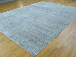 9'x12' Hand-Knotted Roman Mosaic Design Silk With Oxidized Wool Rug
