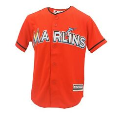 Miami Marlins Official Mlb Majestic Cool Base Kids Youth Size Jersey New Tags