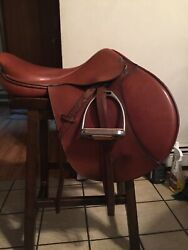 Beval Natural 17 Inch Close Contact English Saddle