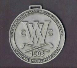 Whitemarsh Valley CC PA Pewter Bag Tag Can Be Engraved VGC Buy It Now $19.95