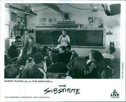 A photo of Robert Mandel in the classroom in a film