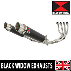 Kawasaki Z900rs And Cafe 4-2 De-cat Race Exhaust System + Mufflers Round Cg35r