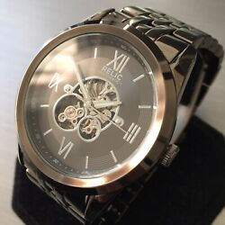 Mens Relic Designer Watch By Fossil Automatic Black Steel Rz77268 Genuine