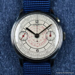 LEMANIA VINTAGE CHRONO ONE BUTTON PILOT CHRONOGRAPH 38MM STAINLESS STEEL SECTOR