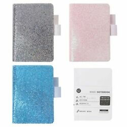 A6 Sequins Faux Leather Notebook Diary Weekly Planner Journal Agenda Organizer