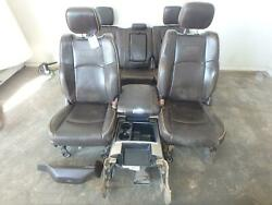 11-18 DODGE 2500 3500 LONGHORN FRONT REAR SEAT CONSOLE BROWN LEATHER POWER HEAT