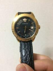 Versace 35th Anniversary Black Imperial Men's Wristwatch Unused Limited Edition