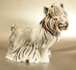 Yorkshire Terrier statuette marble chips realistic figurine dog made in Russia