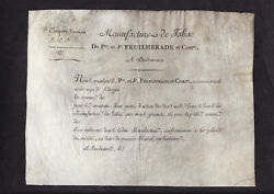 Manufacture De Tabac - 1799 - Worldand039s Oldest Tobacco Share Certificate