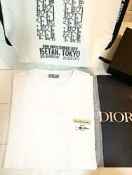 Dior Kim Jones Signed T Shirt Men Small S White Limited Edition Authentic Japan