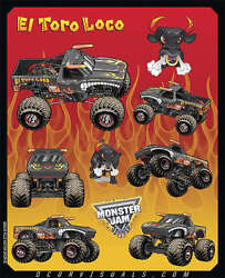 Dcor Decal Sheets El Toro Loco Red 40-90-207 Graphics Stickers