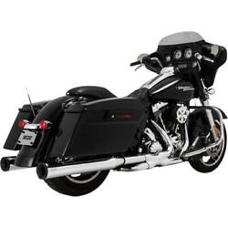 Vance And Hines Eliminator 400 S/o Chr/blk 16708 Exhaust Mufflers / Slip-ons
