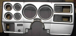 1973-83 Gm Truck With Wiper Switch On Dash-brushed Aluminum 6-hole Dash Panel