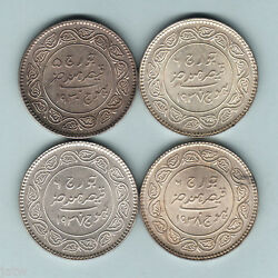 India - Kutch. Silver 5 Kori1930, 1937 X2 And 1938.. Unc - Choice Unc 4 Coins