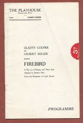 Firebird By Zilahy / Dell, London 1932, Gladys Cooper, Hugh Williams  Jx1232
