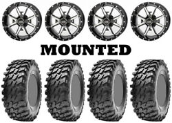 Kit 4 Maxxis Rampage Tires 32x10-14 On Frontline 556 Machined Wheels Fxt