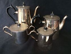 Vintage Hecworth Epns Coffee And Tea Service W/ Bakelite Handles And Finials