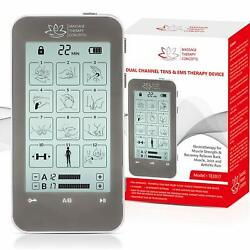 Tens Unit And Ems Combination Muscle Stimulator With 2 Channels 12 Modes For Pa
