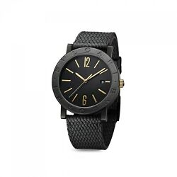 New Bulgari Black Solo Tempo Stainless Steel Automatic 41 Mm Watch Bb41bbcld/mb