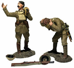 W Britain 23116 Gas Lads Gas British Officer Yells Warning And Soldier Dons Mask