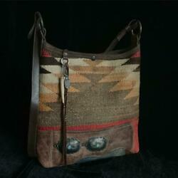 J. AUGUR DESIGN JUDY NAVAJO NAVAHO VINTAGE LEATHER BUCKET SHOULDER BAG MEN USA