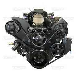 Ls Serpentine Front Drive System With Integral Power Steering Reservoir Black