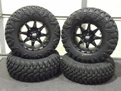 Can Am Renegade 1000 27 Street Legal Tire And 14 Hd6 Blk Wheel Kit Can1ca
