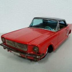 Ford Mustang Tin Diecast Toy Red Japan Rare Collectible Made In Japan Car F/s