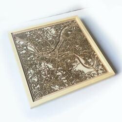 Pittsburgh Wooden Map - Laser Cut Streets City Maps 3d Framed Wall Art Wood