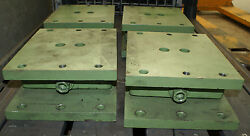 Lot Of 4 Super Heavy Duty Anchoring Alignment Machine Leveling Wedge Jacks Pads